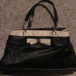 Black and Tan with bow handbag